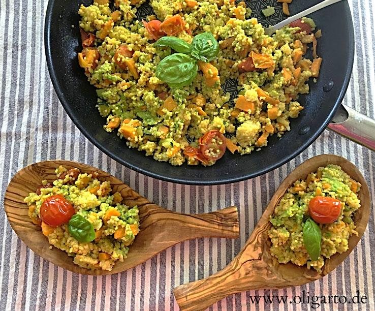 Oligarto Blogzine Hirse mit Avocado und Süßkartoffel Rezepte
