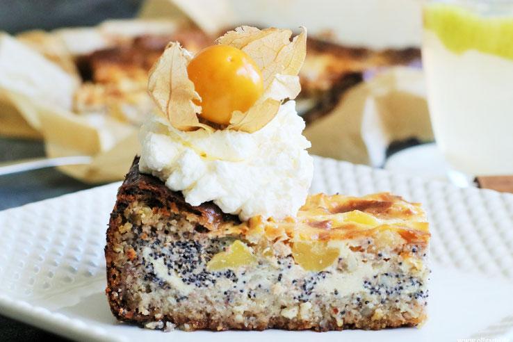 Apfel-Mohnkuchen mit nativem Olivenöl extra Rezepte Oligarto Blogzine