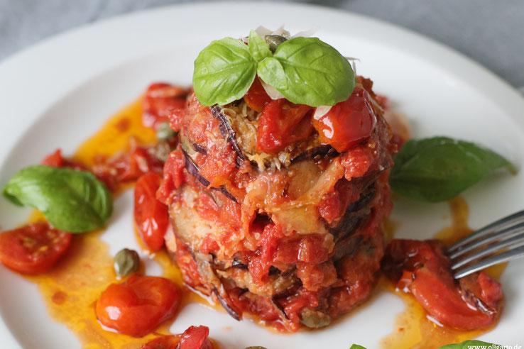 Oligarto Parmigiana Rezepzte Mediterrane Küche Aubergine Blogzine