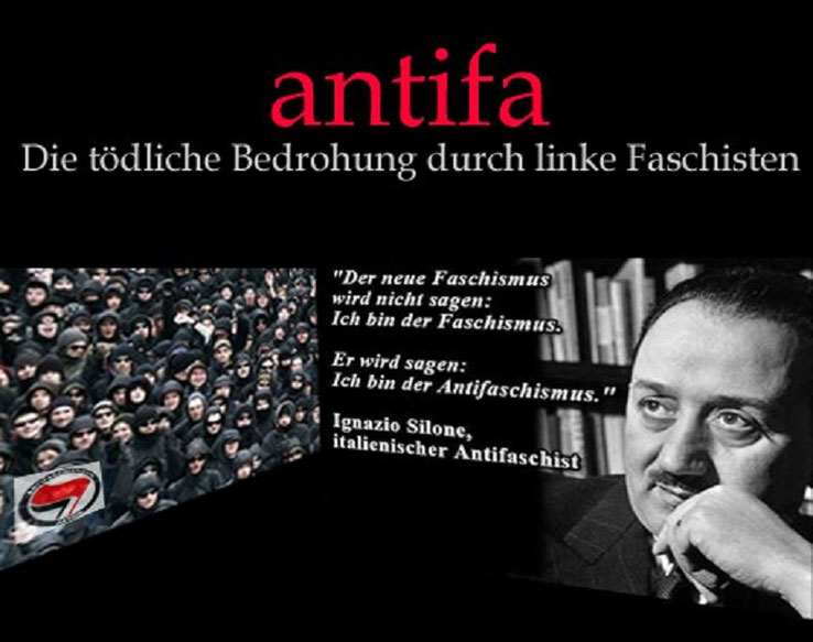 Antifa tödliche Bedrohung Linksfaschismus Antifaschisten Bild