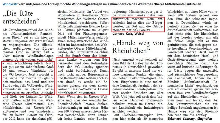 Rhein-Lahn-Zeitung v. 11.08.2015