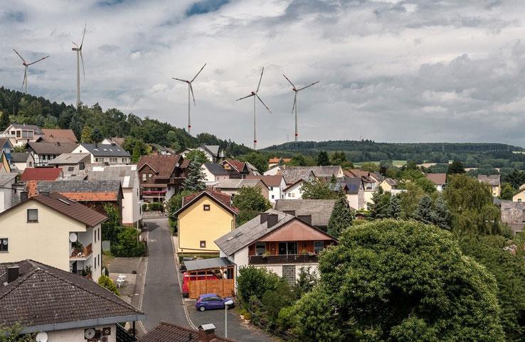 """""""Windpark-Visualisierung nur für Kemmenau"""", aufgenommen aus einer anderen Perspektive"""