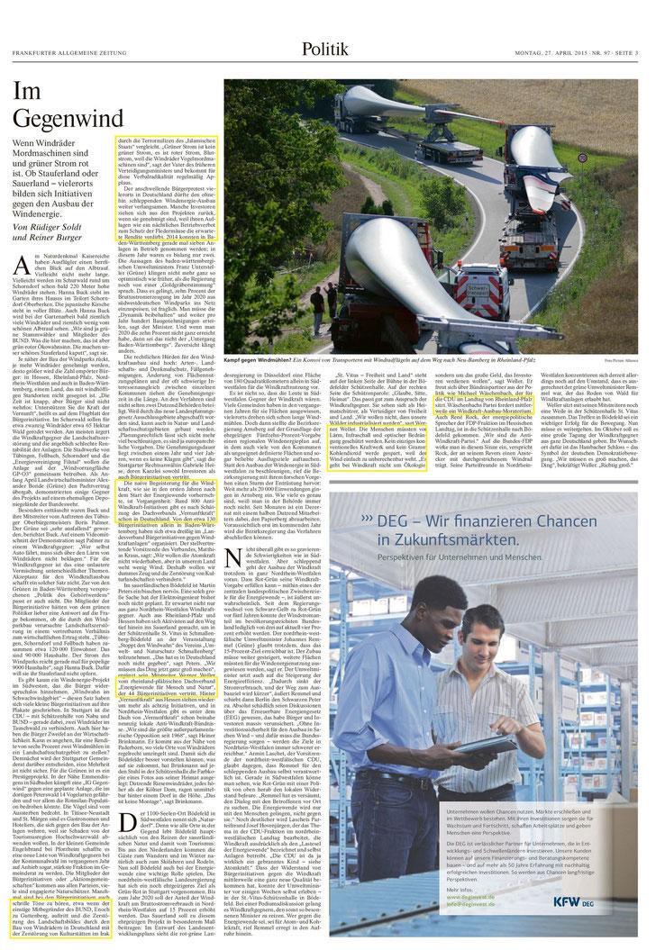 Frankfurter Allgemeine Zeitung v. 27.04.2015