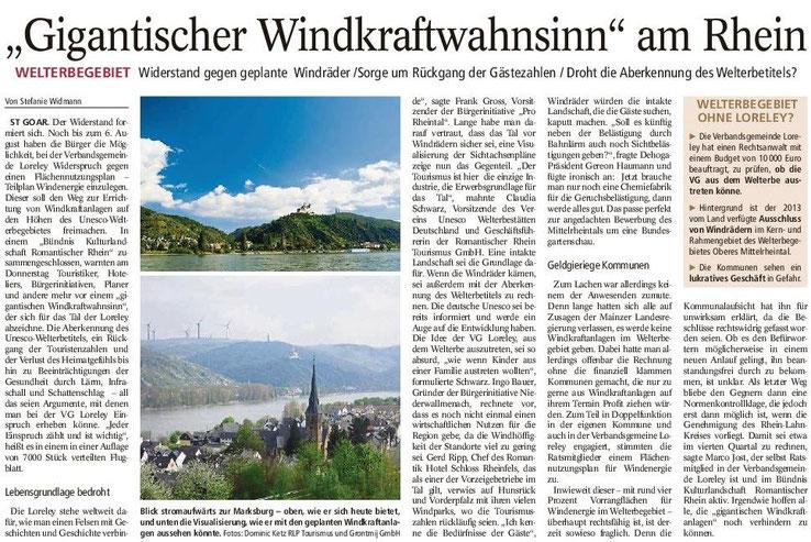 Mainzer Allgemeine Zeitung v. 01.08.2015