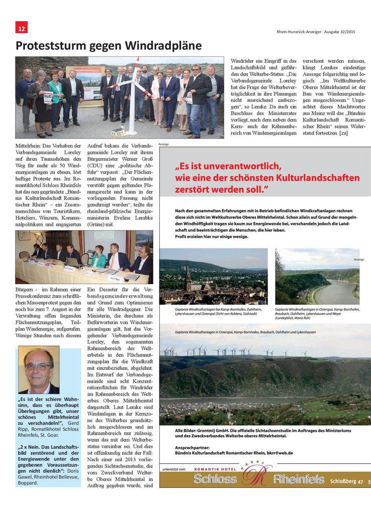 Rhein-Hunsrück-Anzeiger v. 05.08.2015 (Seite 12)