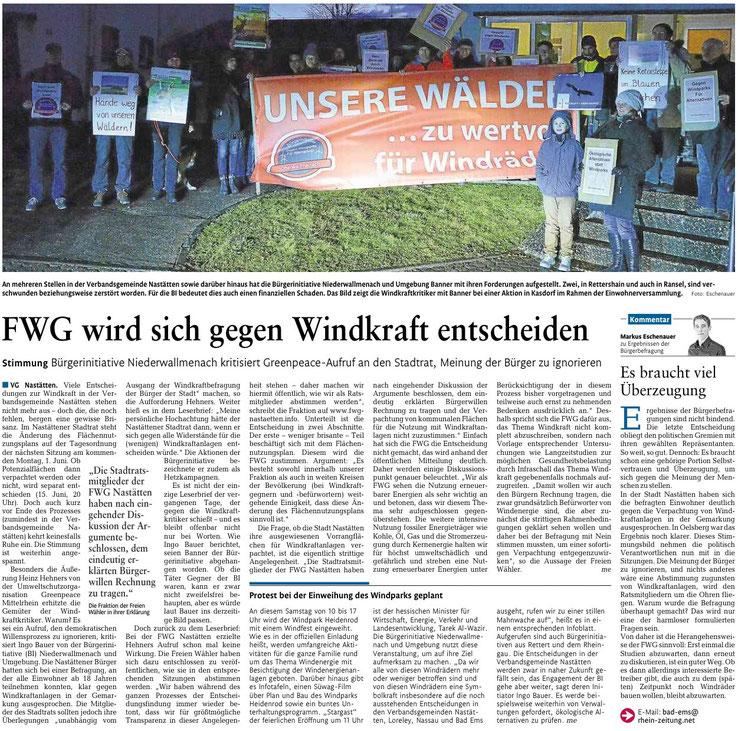 Rhein-Lahn-Zeitung v. 30.05.2015