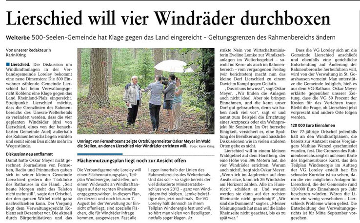 Rhein-Lahn-Zeitung v. 05.08.2015