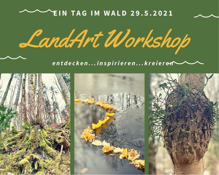 Atelier Bilder Schmuck Land Art Kunst und Raum Geschenke Natur landartforkids Naturkunst  Wald