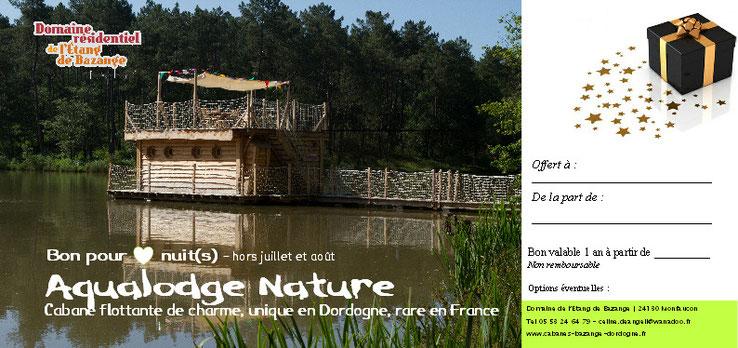 Idée cadeau originale : offrez un séjour insolite en cabane flottante en Dordogne
