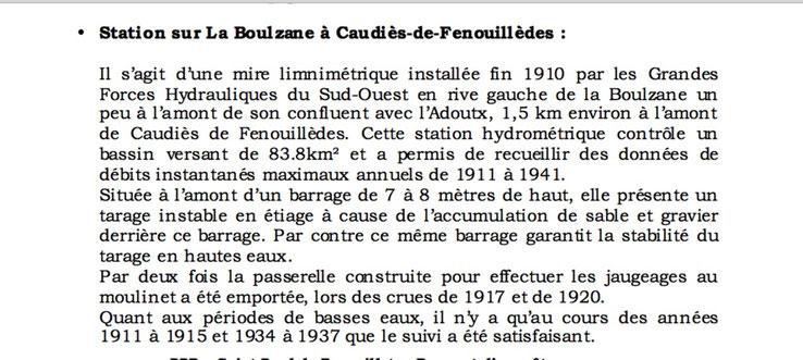 In: Projet de plan de prévention des risques naturels et prévisibles Commune de St Paul de Fenouillet 2012