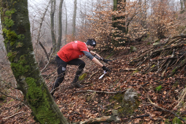 Middle distance training competition in Ticino. It was definitely steeper than it looks...