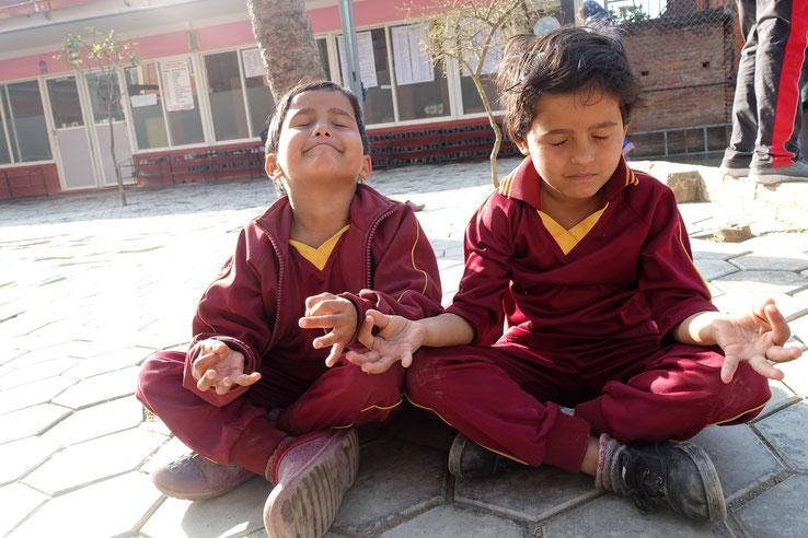 Haus der Hoffnung, Nepal, Yoga, Sonne, meditieren, relaxen