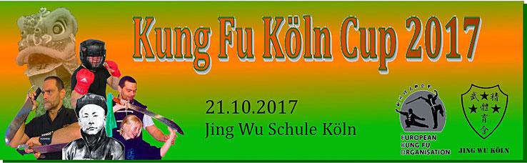 Banner des Kung Fu Köln Cup 2017