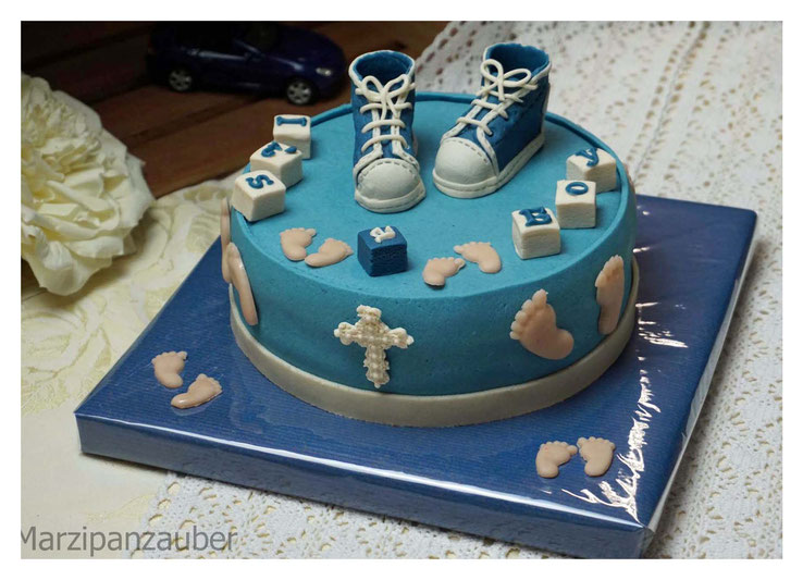 Torte Baby-Party, Torte Baby-Shower, Marzipan Marzipanzauber