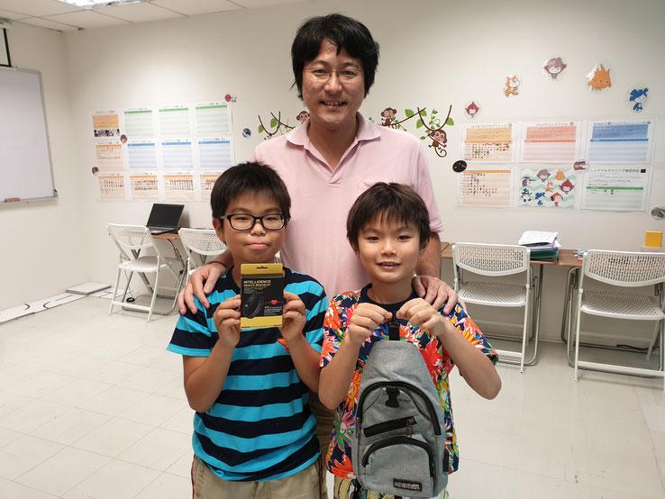 全国の生徒で競い合う「すららカップ」ではなんと全国5位にみごと入賞!塾内でも優秀者には景品を進呈しました。