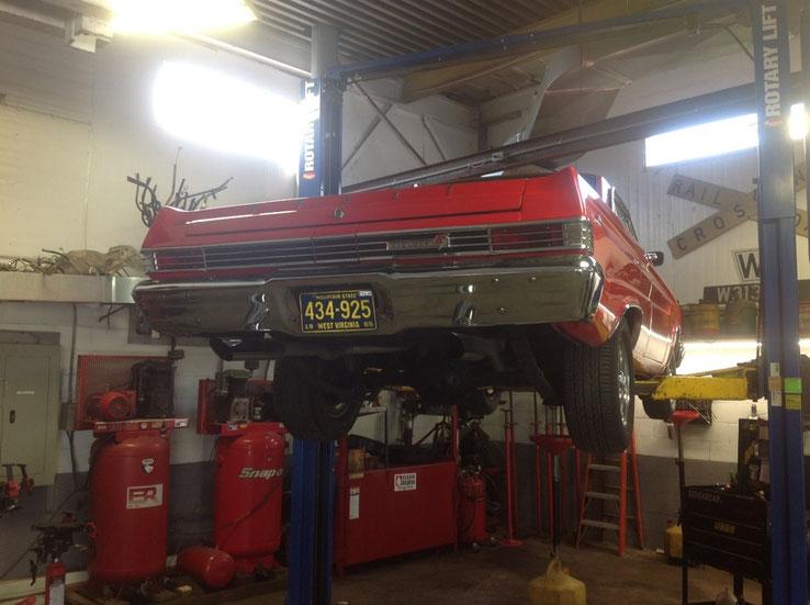 1965 Red Mercury Comet in for a repair.