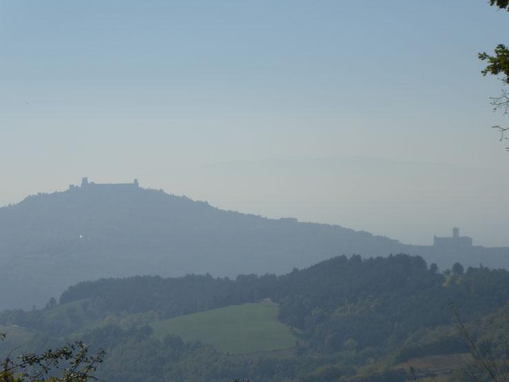 Franziskusweg, Blick auf Assisi, Umbrien