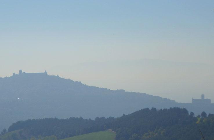 Franziskusweg, Blick auf Assisi