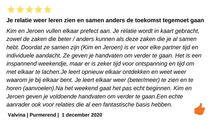 Review Relatieweekend Jeroen en Kim Kromwijk