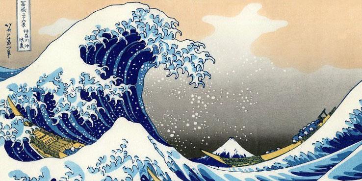 La Grande Vague de Kanagawa (Hokusai)