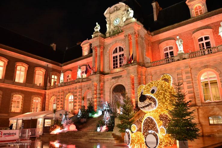 Noël à Amiens, photo non libre de droits
