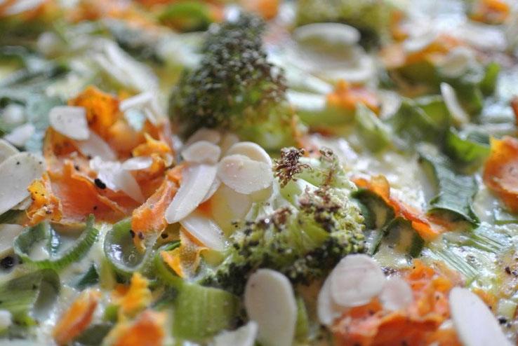 Quiche mit Brokkoli und Mandeln: vegetarisch auch für Thermomix