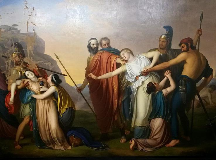 """G. Diotti, """"Antigone condannata a morte da Creonte"""", 1845"""