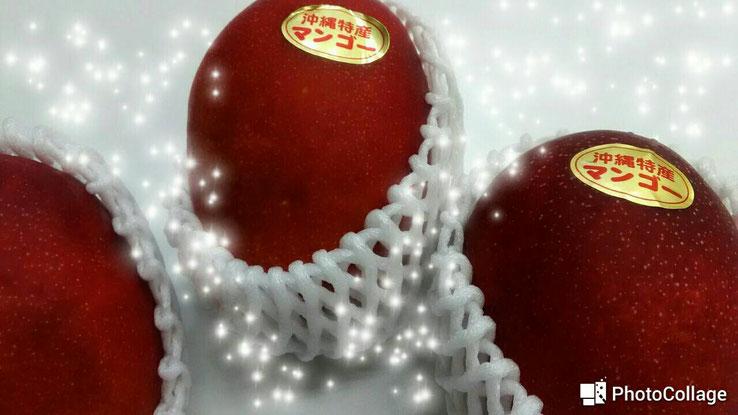生徒さんに沖縄県産マンゴーをいただきました(^^)