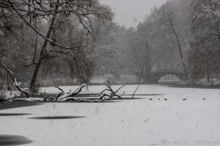 Winter im Georgengarten Hannover