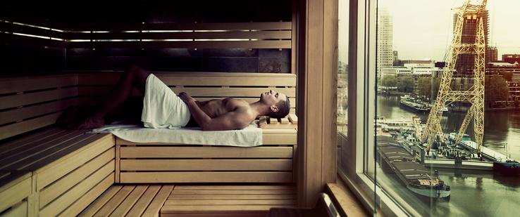 Foto: onze sauna bij Inntel Hotel Rotterdam
