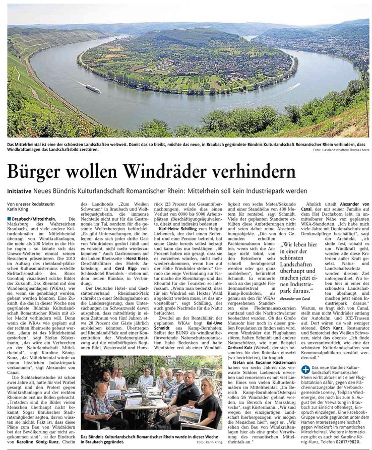Rhein-Lahn-Zeitung v. 25.07.2015