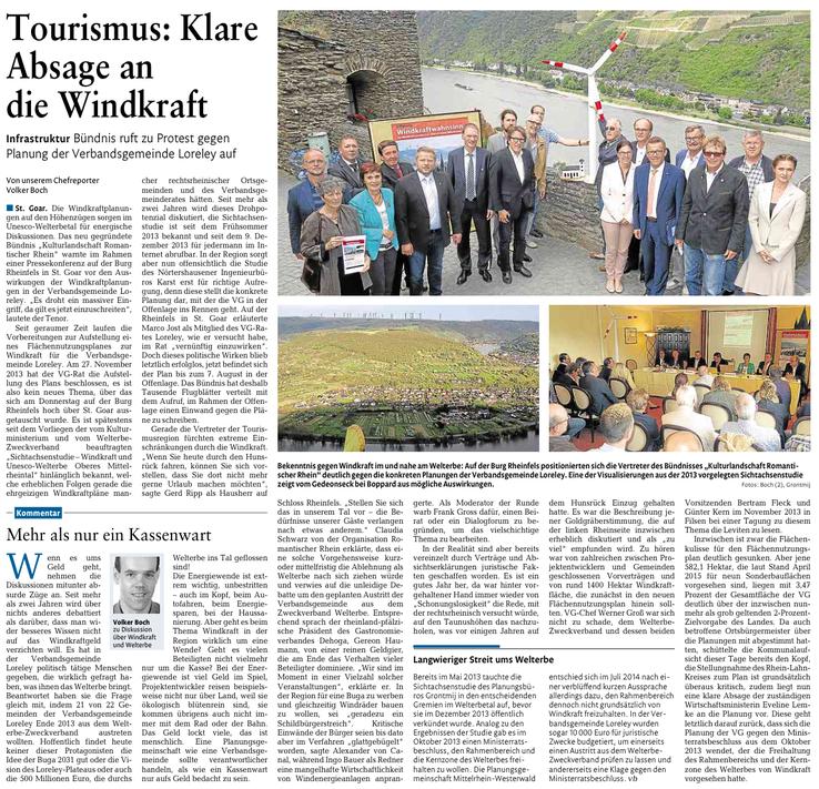 Rhein-Lahn-Zeitung v. 01.08.2015
