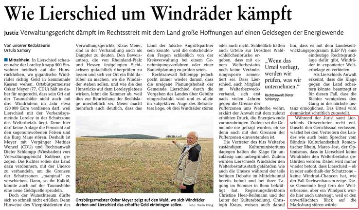 Rhein-Lahn-Zeitung v. 21.10.2015