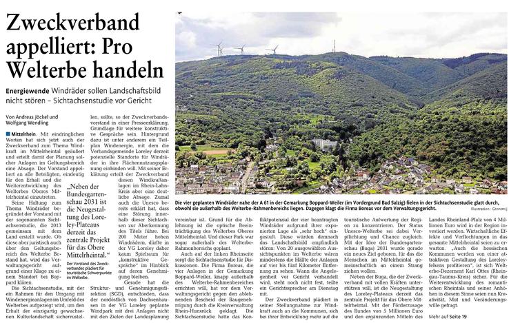 Rhein-Lahn-Zeitung v. 12.08.2015