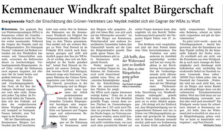 Rhein-Lahn-Zeitung v. 01.07.2015