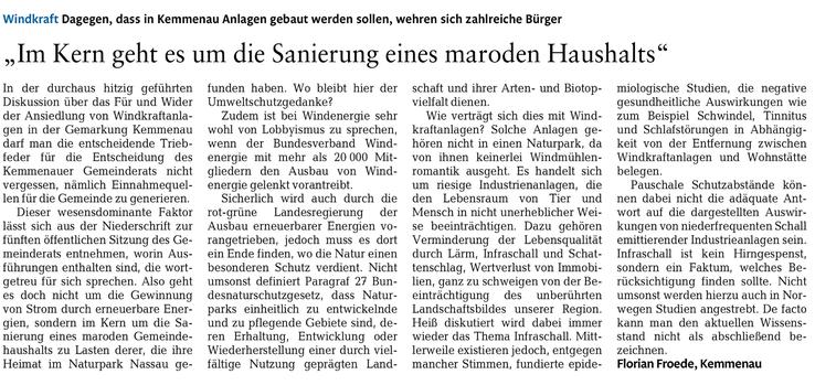 Rhein-Lahn-Zeitung v. 26.05.2015