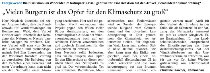 Rhein-Lahn-Zeitung v. 28.06.2015