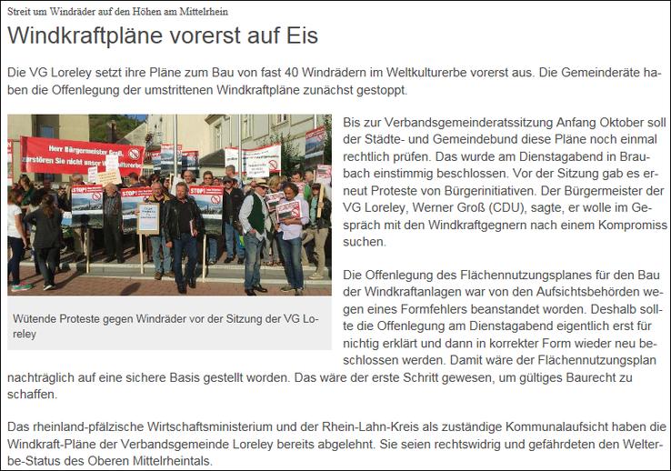 SWR Landesschau aktuell v. 09.09.2015
