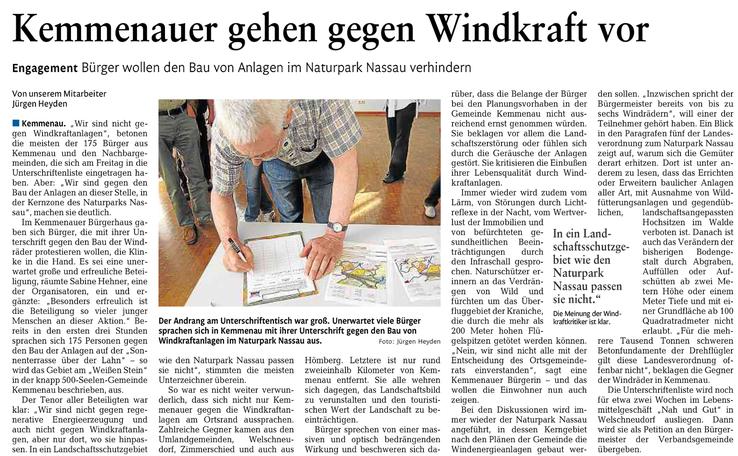 Rhein-Lahn-Zeitung v. 27.04.2015