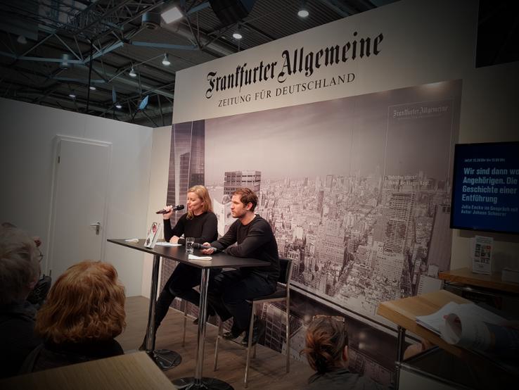 Johann Scheerer im Interview mit Julia Encke bei der Leipziger Buchmesse 2018