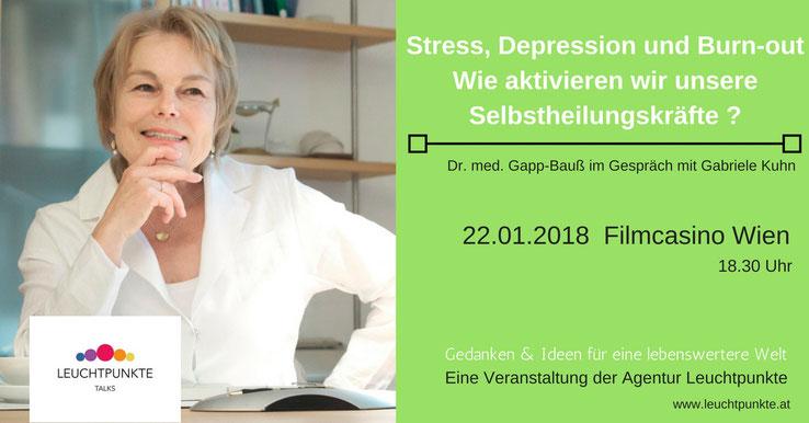 Leuchtpunkte Talks: Dr. med. Sabine Gapp-Bauß im Gespräch mit Gabriele Kuhn