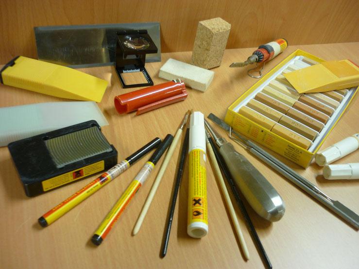 Instandsetzung: Werkzeuge und Material