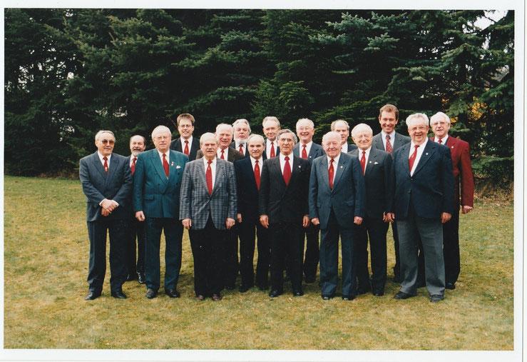 Der Männerchor des Gesangvereins Wernborn 1998