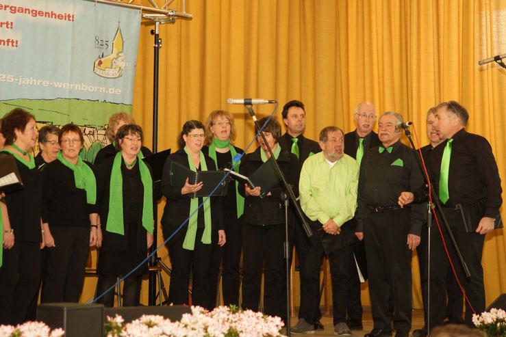 Eröffnung des Jubiläumsjahres 2016 in wernborn mit Da Capo. Foto: p.z.