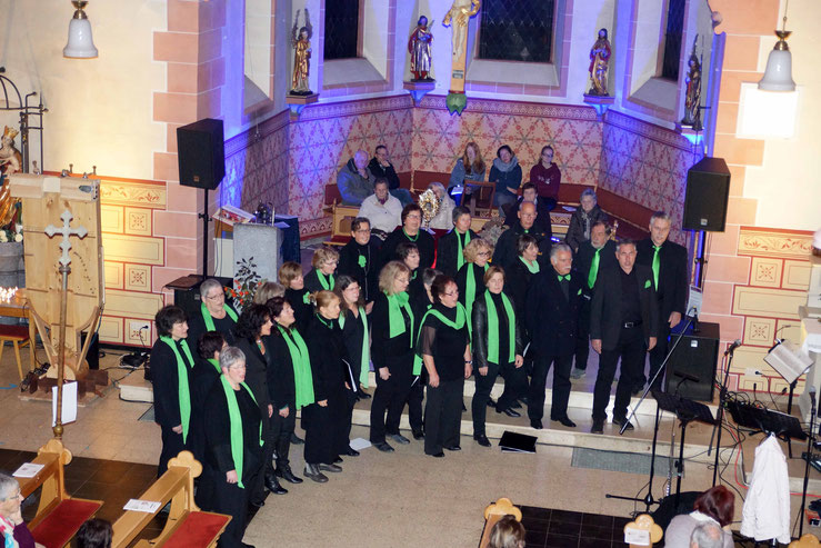 Nacht der offenen Kirche in Wernborn - Auftritt von da Capo. Foto: p.z.