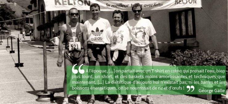 citation de George Galle sur le trail avant