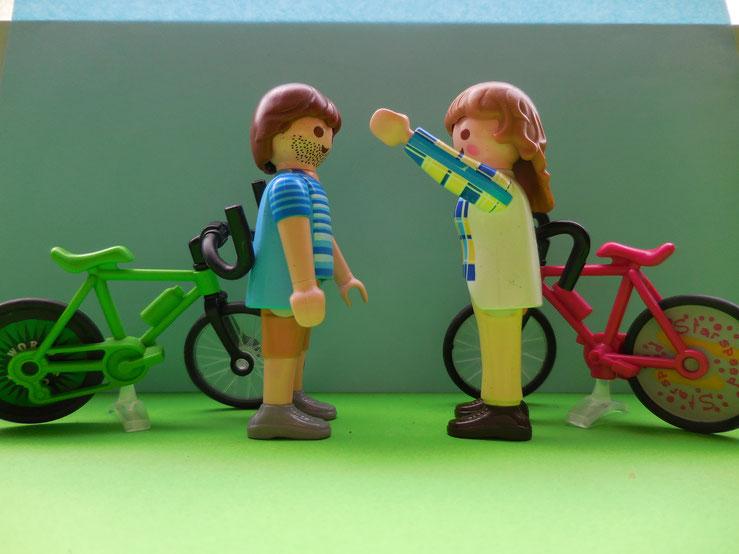Also nahmen sie ihre Fahrräder und...