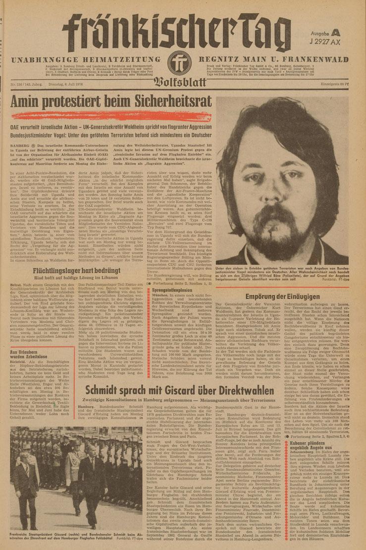 Wiedergabe aller Zeitungsseiten mit freundlicher Genehmigung der Mediengruppe Oberfranken GmbH & Co. KG