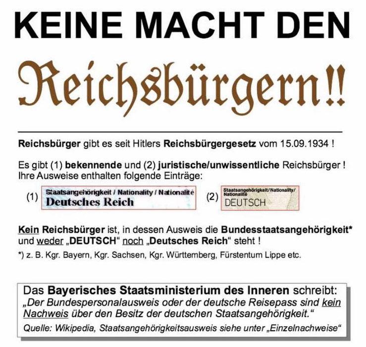 Keine Macht den Reichsbürgern
