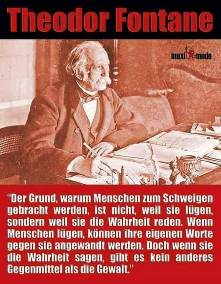 Theodor Fontane Maximodo Wahrheit Schweigen Gewalt